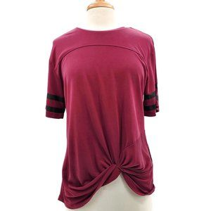 Chance or Fate Short Sleeve Knot Front Top